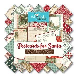 Postcards for Santa von Riley Blake Designs bei Swafing