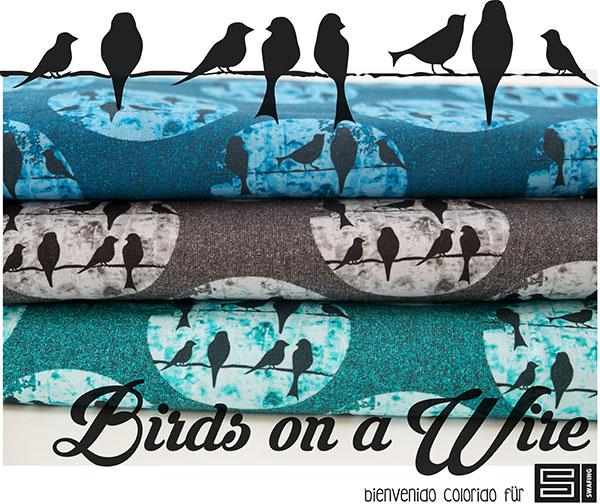 Birds on a Wire von bienvenido colorido - neu bei Swafing