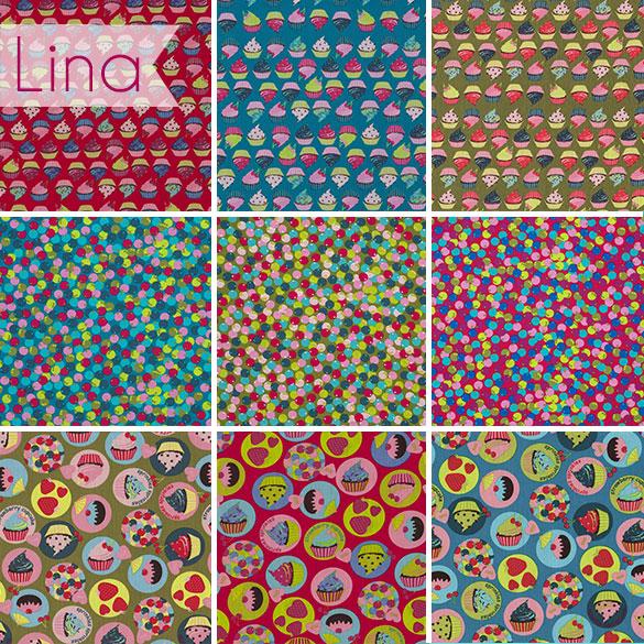 3 Muster in 3 Farben: Lina von Swafing