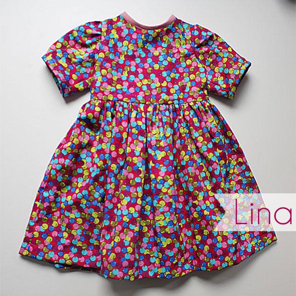 Kleid aus Baumwolldruck Lina