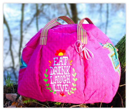 Farbenmix Kugeltasche aus Swafing Mailand