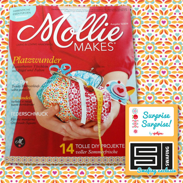Swafing Stoffe auf dem Cover der Mollie Makes