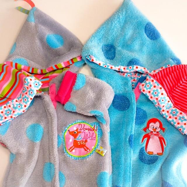 2 Baby-Overalls Tommi von Farbenmix - Microfleece Carlos von Swafing