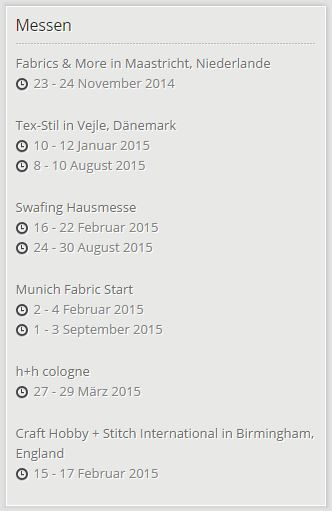 Swafing Messetermine 2015