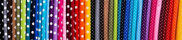 Punkte Baumwolldruck in zwei Punktegrößen und vielen Farben