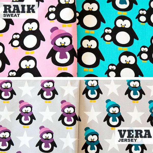 Sweat Raik und Jersey Vera mit Pinguinen - Swafing Stoffe