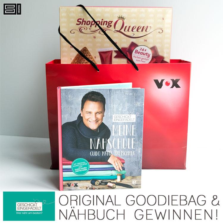 Geschickt eingefädelt Gewinnspiel - Gewinnt eine Goodie Bag und Guidos neustes Nähbuch!