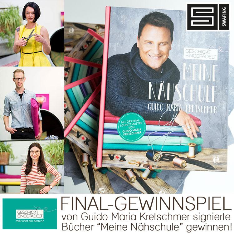 Gewinnspiel zum Geschickt eingefädelt Finale - Nähbücher mit Autogramm von Guido Maria Kretschmer gewinnen!