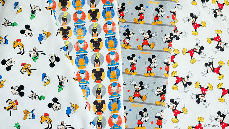Disney Stoffe: Neue Jerseys mit Micky Maus