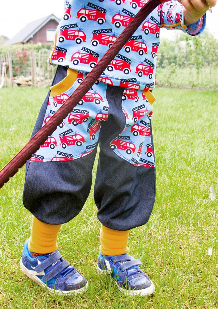 Kinderjersey mit Polizei und Feuerwehrautos | Swafing