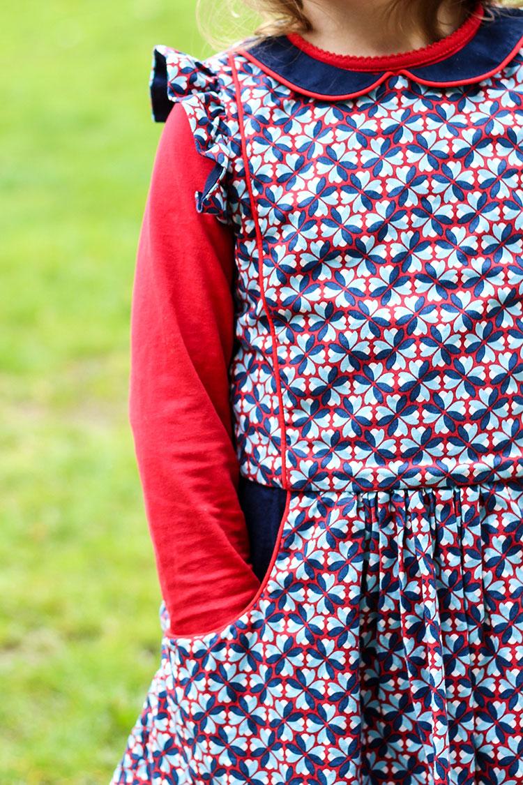 Nähte von Käthe nähte dieses bezaubernde Kleidchen aus den Happy Flowers.