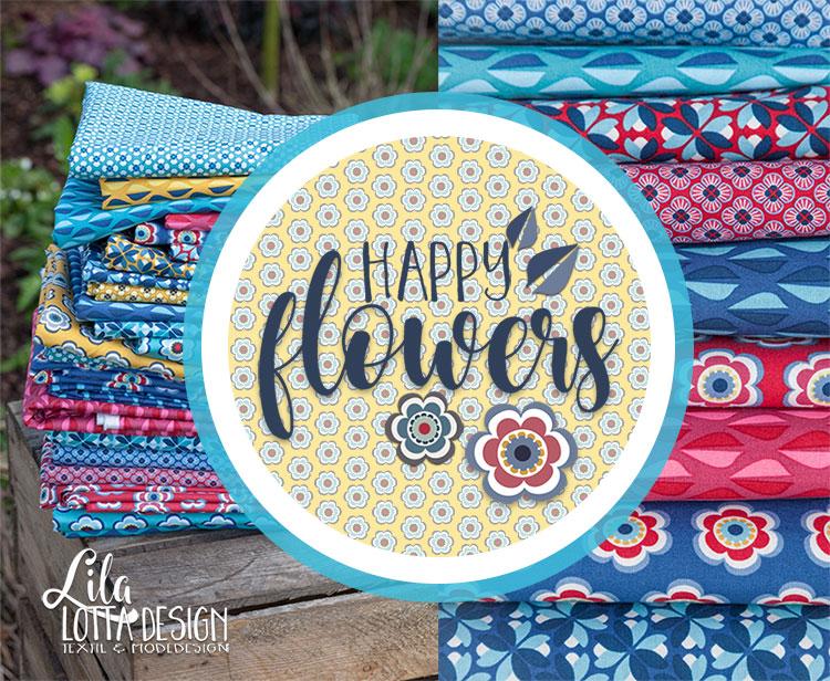 Lila-Lotta Happy Flowers - die große Baumwoll-Kollektion von Designerin Sandra Prüßmeier für Swafing