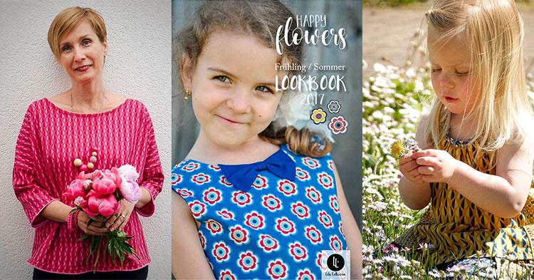 Bildmaterial für Händler: Lila-Lotta Happy Flowers von Swafing