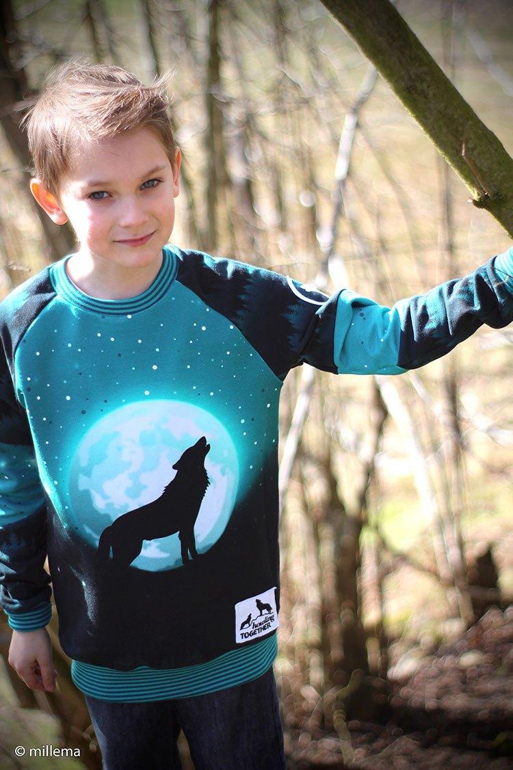 Millema - Kreativbüro: Sweater Henric / Ki-ba-doo, genäht in Gr. 134/140. Kombiniert mit Andy in Farbe 748750