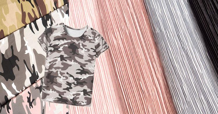 Trendstoff Plissee und Camouflage - Jetzt bei Swafing!