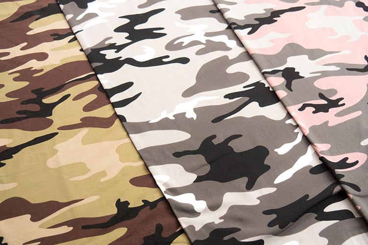 Trendstoff Plissee und Camouflage - Camouflage Jersey Vera