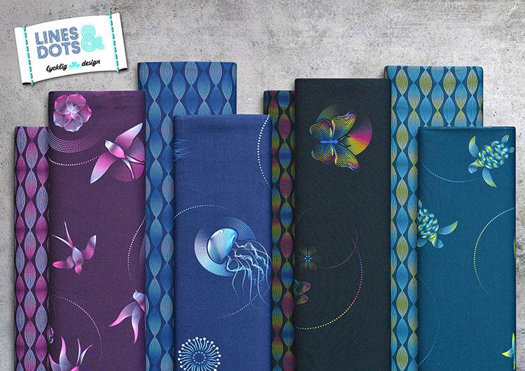 Lines & Dots Modalsweat - Vier Farben in tollen Designs!