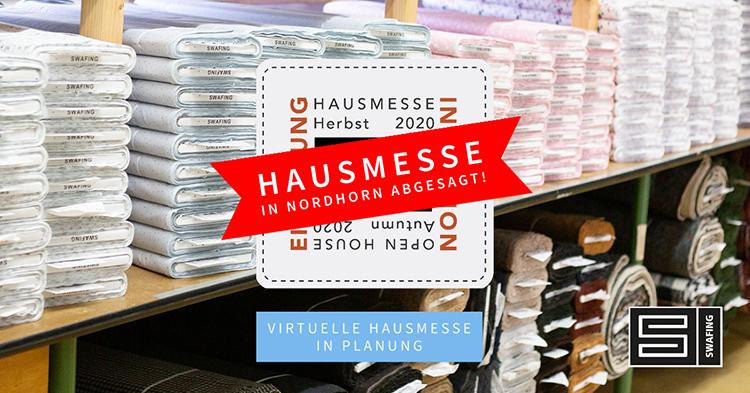 Hausmesse Herbst 2020 abgesagt - Virtuelle Hausmesse in Planung