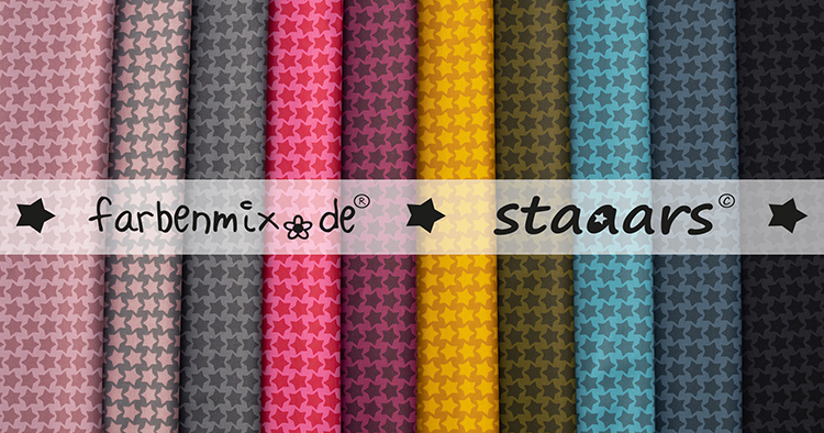 Farbenmix Staaars - Lebensmittelecht beschichtet!